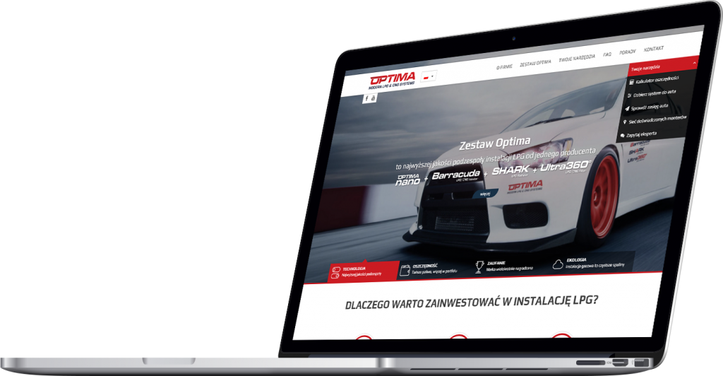 Optima autogas website
